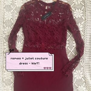 NWT Romeo + Juliet Couture Burgundy Dress